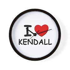 I love Kendall Wall Clock