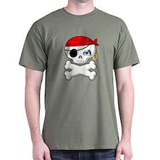 Pirate Skull T-Shirt (Army Green)