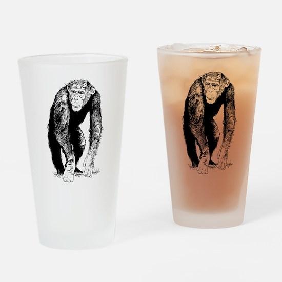 Chimpanzee sketch Drinking Glass