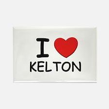 I love Kelton Rectangle Magnet