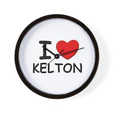 I love Kelton Wall Clock
