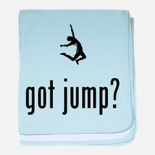 Long Jump baby blanket