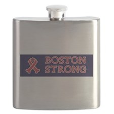 Boston Strong Ribbon Flask