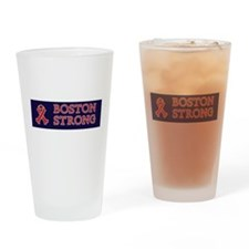 Boston Strong Ribbon Drinking Glass