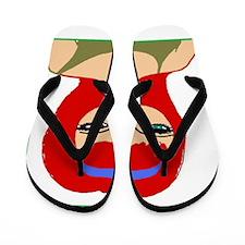 Nicole Red Hotty design Flip Flops