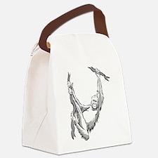 orangutan hanging Canvas Lunch Bag