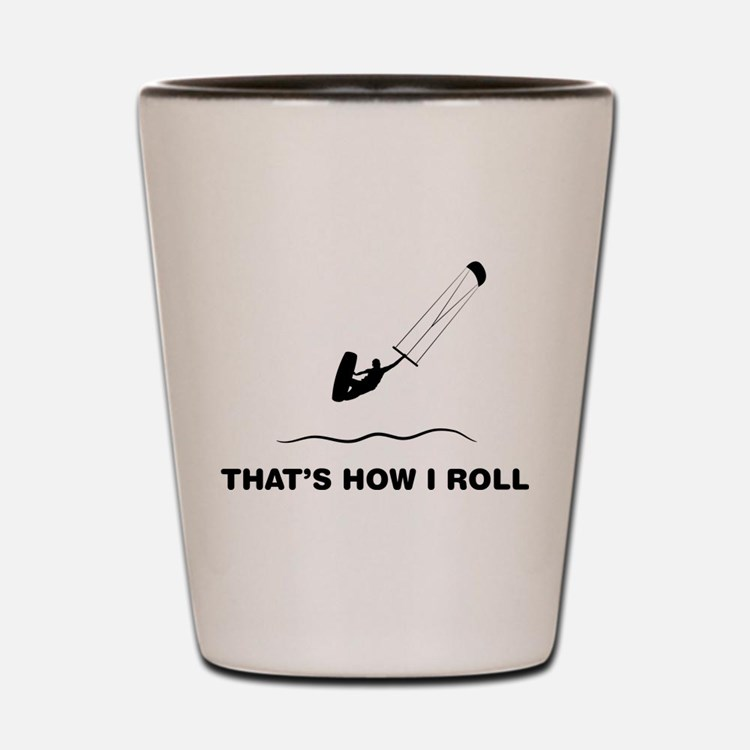 Kitesurfing Shot Glass