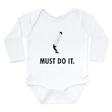 Kiteboarding Long Sleeve Infant Bodysuit