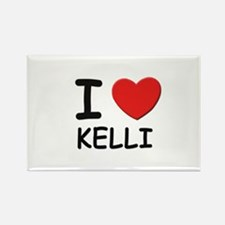 I love Kelli Rectangle Magnet