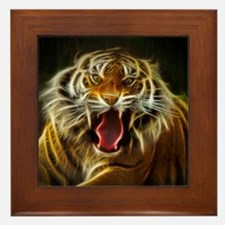 Electric Tiger Framed Tile