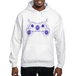 Floral Design Hooded Sweatshirt