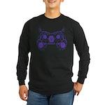 Floral Design Long Sleeve Dark T-Shirt