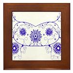 Floral Design Framed Tile