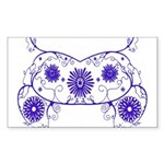 Floral Design Rectangle Sticker