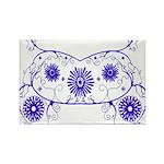 Floral Design Rectangle Magnet
