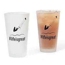 Kitesurfing Drinking Glass