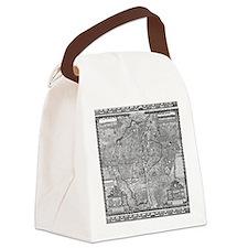 Paris Map 1652 Canvas Lunch Bag