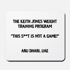 The Keith Jones Weight Training Program Mousepad