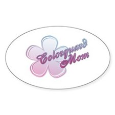 Colorguard Mom Flower Oval Decal