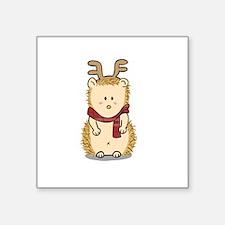 Cute Hedgehog with Reindeer Hair band Sticker