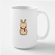 Cute Hedgehog with Reindeer Hair band Mug