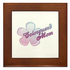Colorguard Mom Flower Framed Tile