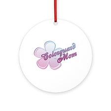 Colorguard Mom Flower Ornament (Round)