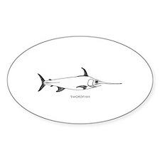 Swordfish Logo (line art) Decal