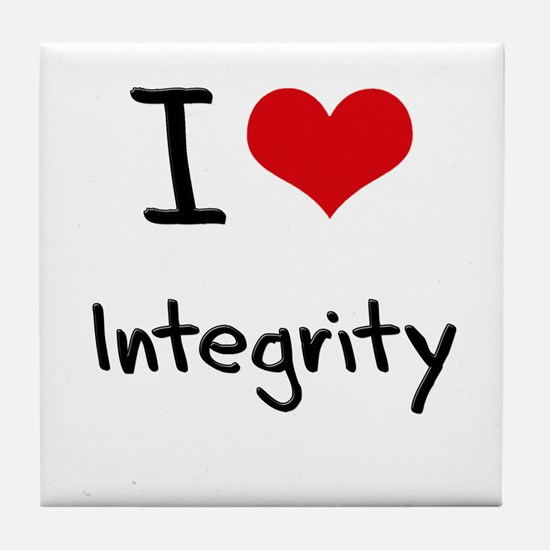 I Love Integrity Tile Coaster