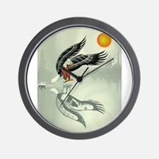 Fishing Eagle Wall Clock