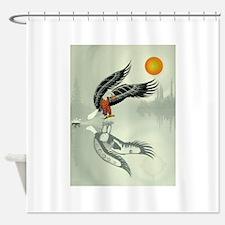 Fishing Eagle Shower Curtain