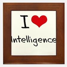 I Love Intelligence Framed Tile