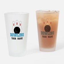 Personalized Bowling Drinking Glass
