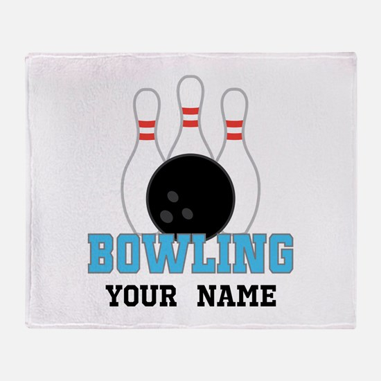 Personalized Bowling Throw Blanket