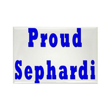 Proud Sephardi Rectangle Magnet