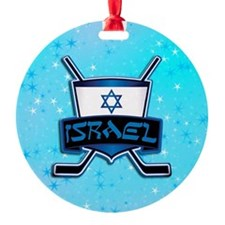 Isreal Ice Hockey Shield Ornament