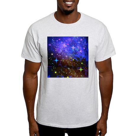 Galaxy Space Scene Graphic Light T-Shirt