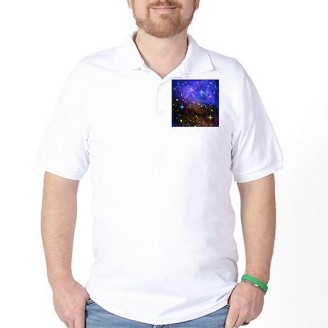 Galaxy Space Scene Graphic Golf Shirt