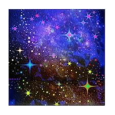 Galaxy Space Scene Graphic Tile Coaster