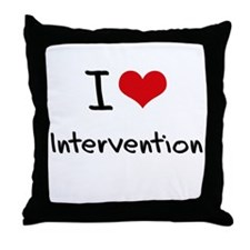 I Love Intervention Throw Pillow