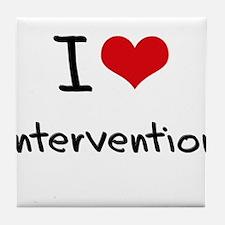 I Love Intervention Tile Coaster
