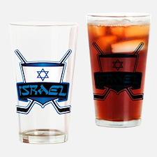 Isreal Ice Hockey Shield Drinking Glass