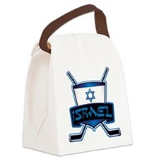 Isreal Ice Hockey Shield Canvas Lunch Bag