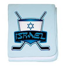 Isreal Ice Hockey Shield baby blanket