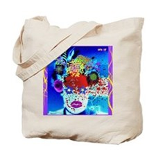 Fabulous Demented Diva Clown Tote Bag