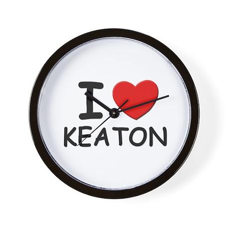 I love Keaton Wall Clock