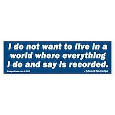 Edward Snowden Bumper Bumper Sticker