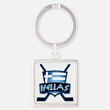 Greece Ice Hockey Shield Hellas Keychains