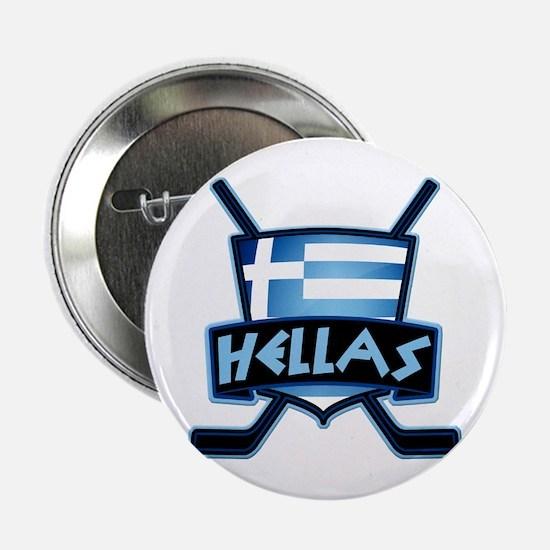 "Greece Ice Hockey Shield Hellas 2.25"" Button"