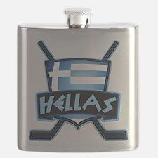 Greece Ice Hockey Shield Hellas Flask